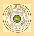 kiwi fresh and natural fruits food label vector image