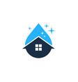 liquid house logo icon design vector image vector image