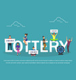 lottery concept set with winning combinations flat vector image vector image