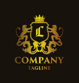 luxury letter l logo vector image