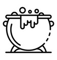 magic cauldron icon outline style vector image vector image