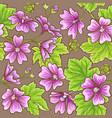 malva pattern vector image vector image