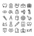 medical health and hospital line icons 11 vector image vector image