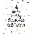 merry christmas best wishes holidays lettering vector image vector image
