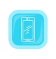 Mobile Phone Icon Isolated Cellphone Communicator vector image vector image