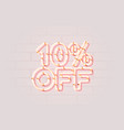 neon 10 off sale banner sign board promotion