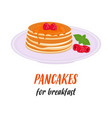 pancakes delicious breakfast vector image