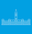 parliament building in ottawa icon outline style vector image