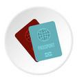 passports icon circle vector image