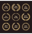 Premium quality laurel wreaths in retro style vector image vector image