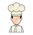 professional chef avatar character vector image vector image