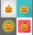 pumpkins for halloween flat icons 02 vector image vector image