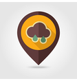 Rain Cloud retro flat pin map icon Weather vector image vector image