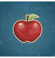 Retro Apple vector image vector image