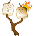 roasted marshmallow cartoons vector image vector image