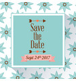 save the date poster with flowers background vector image vector image