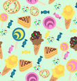 Seamless Confection Pattern Ice-cream Candies Pies vector image vector image