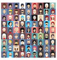 set people icons in flat style with faces vector image vector image