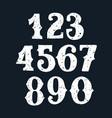 set vintage numbers stamp vector image