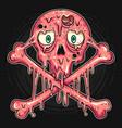 skull bubblegum flavor ice cream is melted vector image vector image
