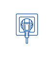 socket line icon concept socket flat vector image