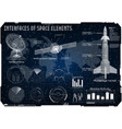 space background hud space rocket vector image vector image