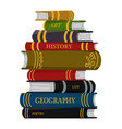 stack books for lover literature vector image