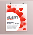 stylish valentines day party flyer design vector image vector image