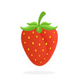 sweet strawberry with a stem vector image vector image