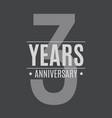 template logo 3 years anniversary vector image