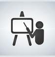 training presentation icon vector image