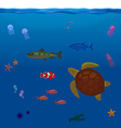 Underwater Inhabitants Sea Life Part 1 vector image