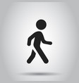 walking man icon people walk sign business vector image vector image