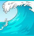 water wave background pop art vector image