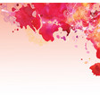 watercolor background in pink colors vector image vector image