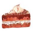 watercolor cake vector image vector image