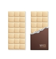 White Chocolate Package Bar Blank vector image vector image