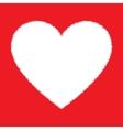 White Hand Drawn Grunge Heart vector image