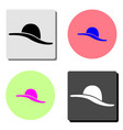women hat flat icon vector image vector image