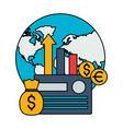 world money bank card money stock market vector image