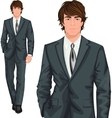 Young businessman standing vector image vector image