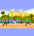 colorful active recreation template vector image