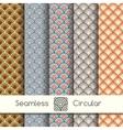 Five seamless circular patterns vector image