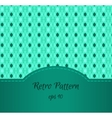 Seamless Teal Pattern vector image