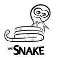 Snake Cartoon Outline vector image