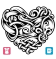 celtic pattern in the shape of heart vector image