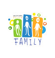 colorful family logo design with abstract people vector image