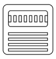 Floppy icon outline style vector image