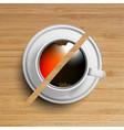 a cup of coffeetea vector image vector image