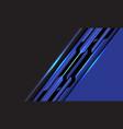 abstract blue black line circuit cyber slash grey vector image vector image